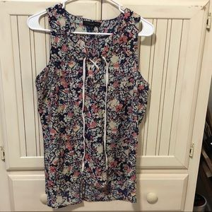 Sanctuary Sleeveless Floral Blouse - Size Large